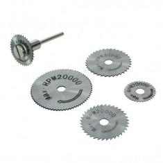 Set de discuri pentru biax HSS 6 piese, 22, 25, 32, 35 și 44 mm, Silverline HSS Saw Disc Set 6pce - Set discuri ambreiaj Moto