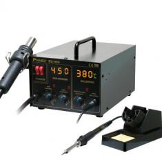 Statie de lipit SMD 2 in 1 cu aer cald, PROSKIT ; Cod EAN: 4710810409936