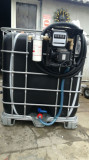 Bazin IBC rezervor 1000 litri cu pompa motorina