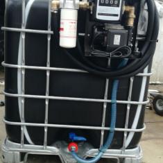 Bazin IBC rezervor 1000 litri cu pompa motorina - Tractor