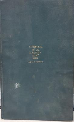 ALIMENTATIA CU APA A ORASULUI GALATI - N. C. POPOVICI 1926 foto