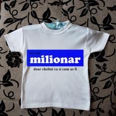 Tricouri personalizate pentru copii cu orice text și/sau poză., Marime: 3-4 ani, Culoare: Alb