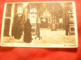 Ilustrata - Interior Manastire Pasarea ,interbelica Ed.Comitet edili Str.Dr.Sari, Necirculata, Printata