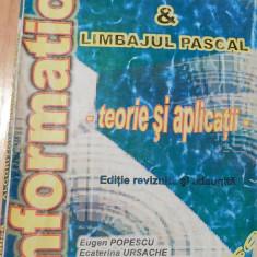 Algoritmi si limbajul Pascal - teorie si aplicatii de Eugen Popescu