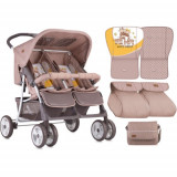 Carucior Gemeni Twin 2018 Beige & Yellow Family