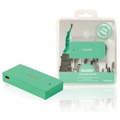 Cititor de card USB New York, verde, Sweex ; Cod EAN: 8717534021334