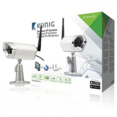 Camera supraveghere video IP de exterior, argintie, konig; Cod EAN: 5412810211531