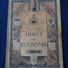Libret vechi de economii - CEC - perioada interbelica