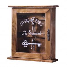 Cutie lemn pentru chei Bistro Paris, 21 x 25 x 15 cm