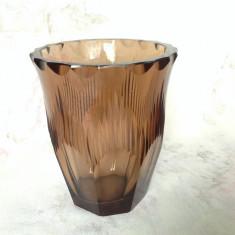 Vaza vintage din cristal fatetat