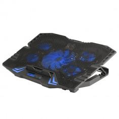 Stand cu sistem de racire pentru notebook gaming, 5 ventilatoare si ecran LCD, NGS; Cod EAN: 8435430609417 - Masa Laptop