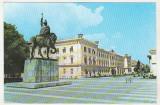 Bnk cp Alba Iulia - Muzeul Unirii si statuia lui Mihai Viteazul - necirculata, Printata