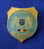 "Insigna militara - Armata Romaniei - "" Comanda """