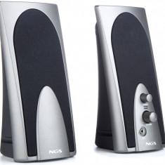 Boxe multimedia 2.0 3.5mm silver/negru 2x2W SB150 NGS; Cod EAN: 8436001290034