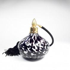D Sticla veche de parfum cu pompita functionala, Art Deco, pulverizator