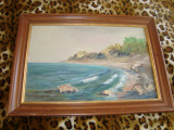Tablou / pictura ULEI pe PANZA / mare , 71 /51 cm ; 59 / 39 cm