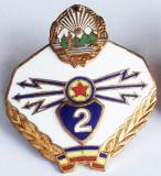 ROMANIA ARMATA MILITAR INSIGNA SPECIALIST DE CLASA TRANSMISIUNI CL. 2 A RSR **
