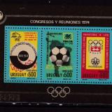 Uruguay  1974  sport fotbal olimpiada  MI  bl.21   MNH  w50  cota Michel=70, Nestampilat