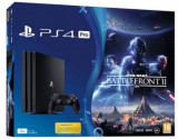 Consola Sony PlayStation 4 Pro 1TB + Star Wars Battlefront II (Neagra)