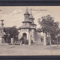 AZUGA  BISERICA  SI  MONUMENTUL  CIRCULATA 1911, Printata