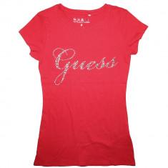 Tricou GUESS - Tricouri Dama, Femei - 100% AUTENTIC, Rosu, M, S, Cu aplicatii, Guess by Marciano