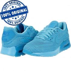 Pantofi sport Nike Air Max 90 Ultra BR pentru femei - adidasi originali - panza - Adidasi dama Nike, Culoare: Albastru, Marime: 37.5, 38, Textil