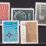 Iran 1966  telecomunicatii  radio  MI 1304-1308   MNH  w50, Nestampilat