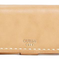 Guess Juliana File Clutch portofel dama nou 100% original. Livrare rapida., Culoare: Coniac