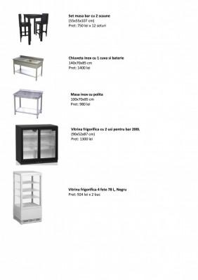 Lichidare stoc, mobilier  si echipamente noi de bar foto