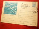 Carte Postala ilustrata - Scornicesti- Vedere generala , circulat 1959 , stampil, Necirculata, Printata