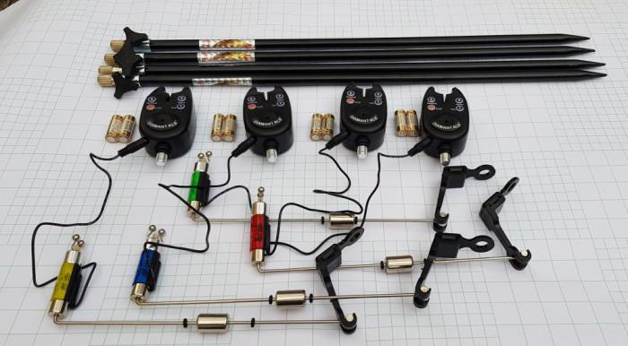 Set 4 Avertizori digitali TLI01 cu mufa jack 4 swingere cu iluminare si 4 Tije
