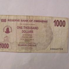 CY - 1000 dollars dolari 2006 Zimbabwe