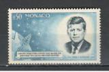 Monaco. 1964 1 an moarte J.F.Kennedy-presedinte  KM.49, Nestampilat