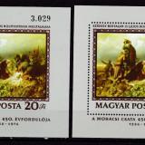 Ungaria 1976  pictura  MI  bl.120A+B  dant.si nedantelat   MNH  w50, Nestampilat