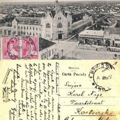 Salonta (Bihor, Oradea) - Piata-TCV - Carte Postala Crisana pana la 1904, Circulata, Printata