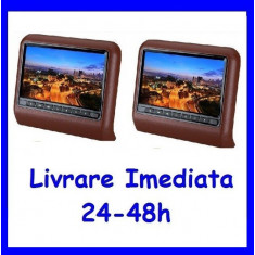 Set DVD Player + Monitor Tetiere MARO (cogniac) Recomandarea ERKaccesorii F171