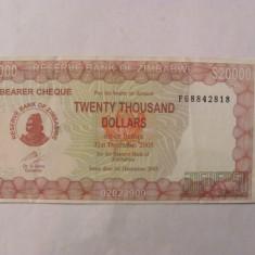 CY - 20000 dollars dolari 2003 Zimbabwe