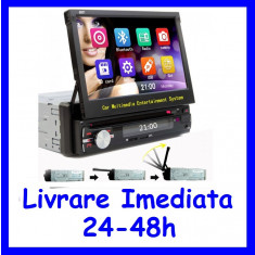 DVD Player Auto cu Bluetooth si ecran retractabil 7 inch 1DIN F156