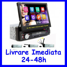 DVD Player Auto cu Bluetooth si ecran retractabil 7 inch 1DIN F156