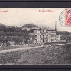 BUCURESTI COLOSEUL OPPLER RESTAURANT SI FABRICA DE BERE OPPLER TCV CIRC.1909 - Carte Postala Muntenia 1904-1918, Circulata, Printata