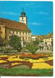 (A)carte postala(marca fixa)-SIBIU-vedere, Circulata, Fotografie
