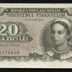 Y499 ROMANIA 20 LEI 1950 UNC necirculata - Bancnota romaneasca