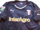 Tricou fotbal cu autografe de colectie-ASTRA Giurgiu(nr.18 jucatorul Cristescu), L, Negru, De club