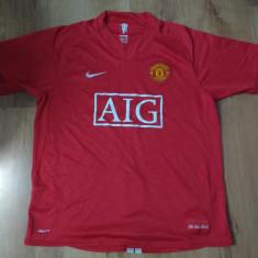 Tricou Nike  Manchester United sezonul 07/08 autentic mărimea L