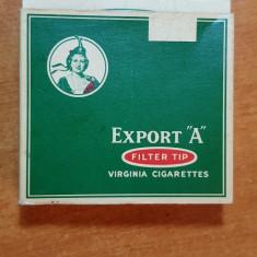 "Ambalaj tigari export ""A"" din anii '40 - de colectie"