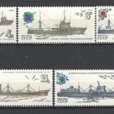 U.R.S.S.1983 Vapoare ale flotei sovietice CU.1220 - Timbre straine, Nestampilat