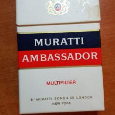 ambalaj tigari muratti ambassador din anii '70 -'80  - de colectie