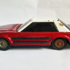 Masina masinuta jucarie tabla China MF 309, rosie, cu frictiune, 21 cm - Jucarie de colectie