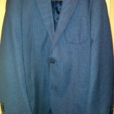 Costum DAMAT 3 Piese SuperSlimFit Marimea 50 - Costum barbati, Culoare: Albastru