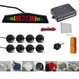 Senzori parcare afisaj display LED avertizare sonora fata spate kit 8 pe set